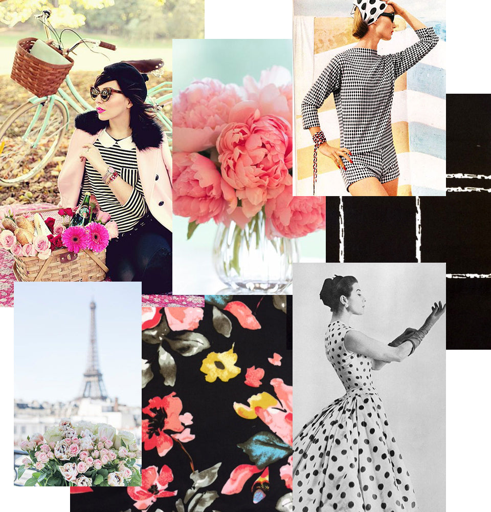 Parisian picnic collage