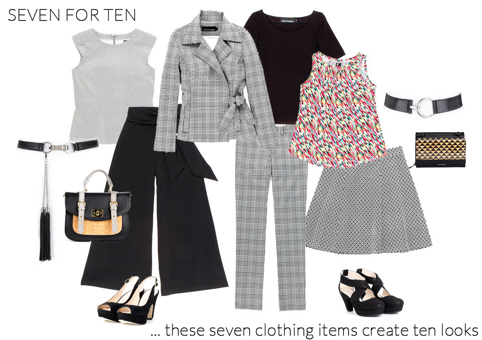 Seven pieces for ten looks