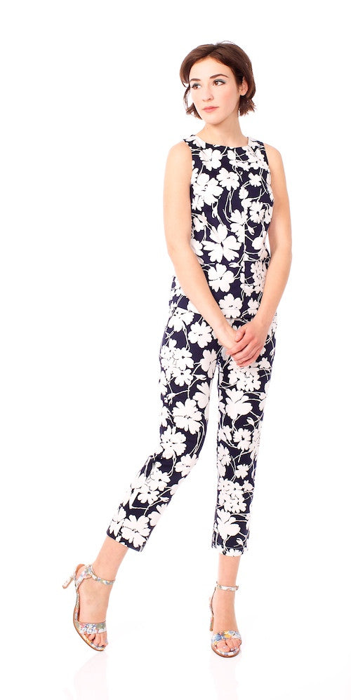 Dylan Trousers, midnight floral