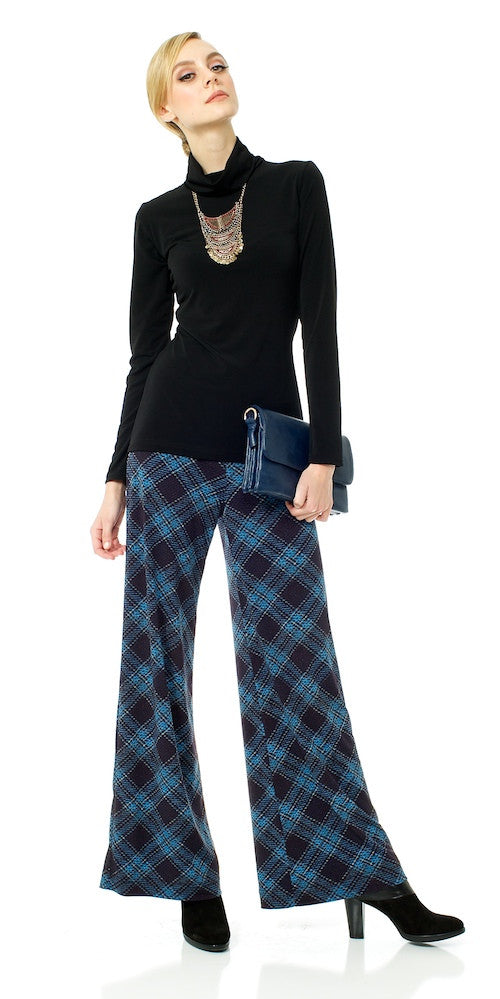 Lennon Trouser, navy plaid