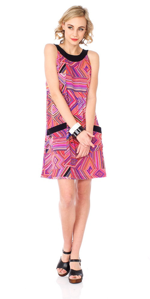 Lulu Swing Dress, kaleidoscope