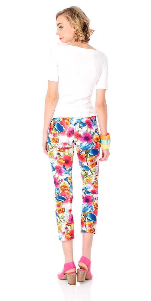 Jetty Crop Pants, psychedelic bloom