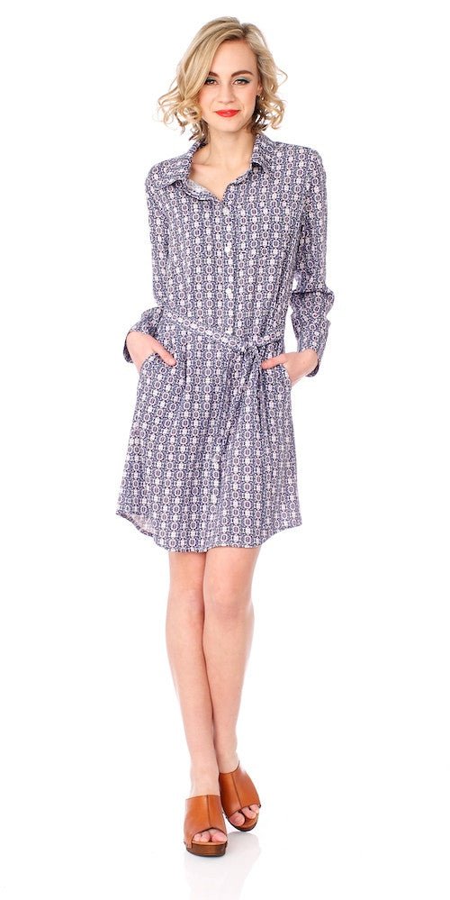 Monterey Shirt Dress, moroccan blue