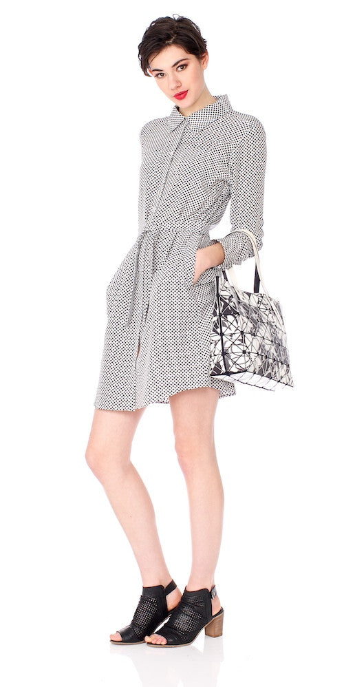 Monterey Shirt Dress, trellis