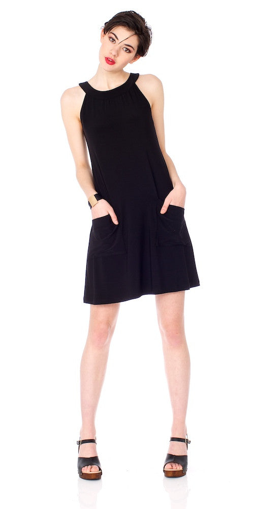 Lulu Swing Dress, black