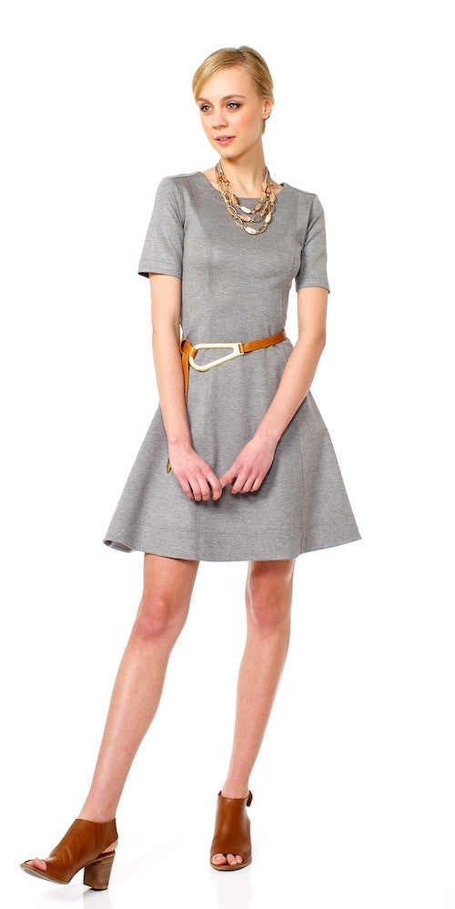 Jolie Flared Dress, grey