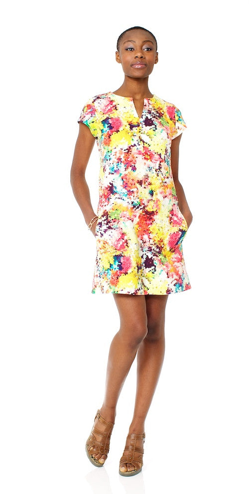 Penelope Shift Dress, rainbow