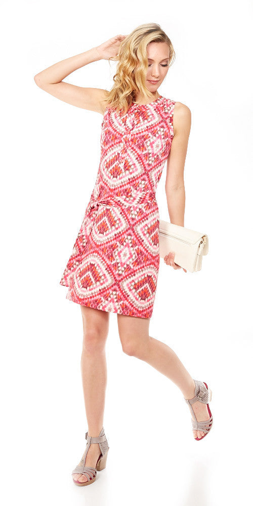 Regatta Dress, pink ikat