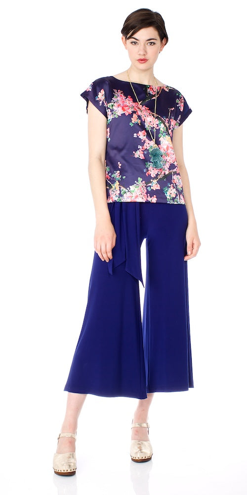 Morrison Cropped Trousers 18, marine blue