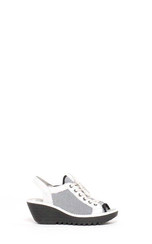 Fly London Yedu, white/black