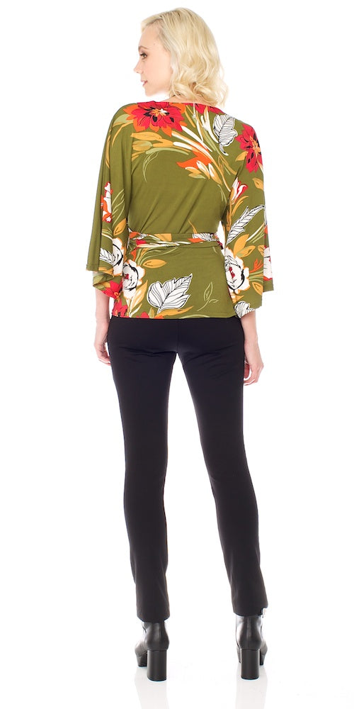 Armada Wrap Top, olive grove