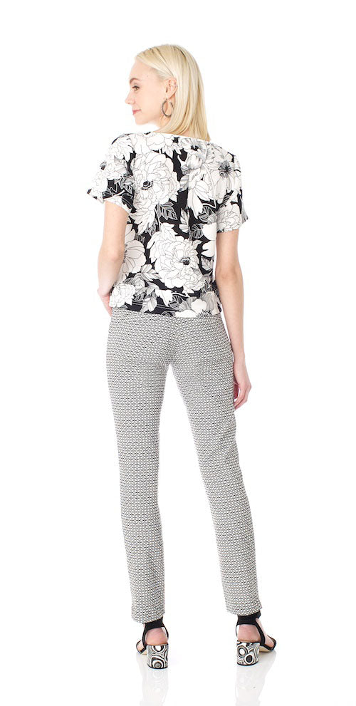 Jagger Slim Trousers, retro tile