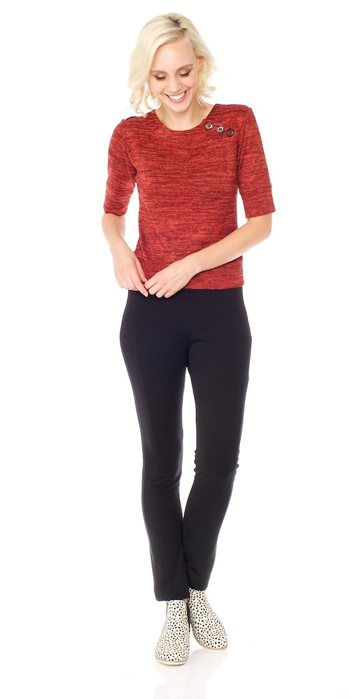 Brady Cropped Sweater, rust