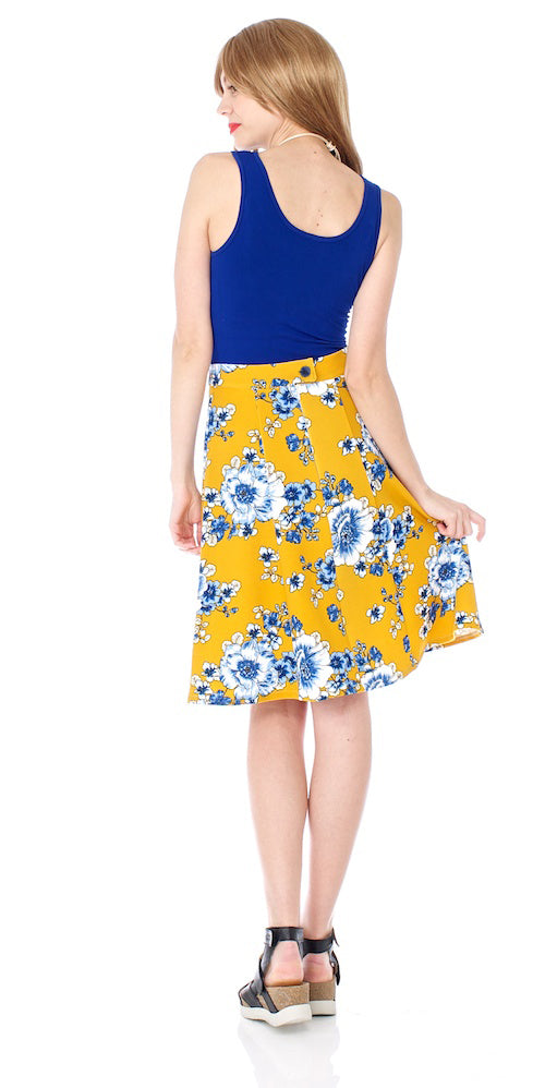 Winona Skirt, uppsala bloom