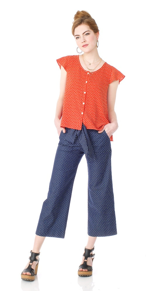 Jackson Trousers, chambray dot