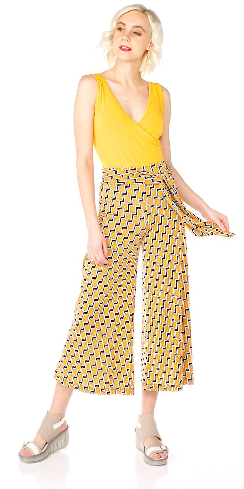Morrison Cropped Trouser, yellow links