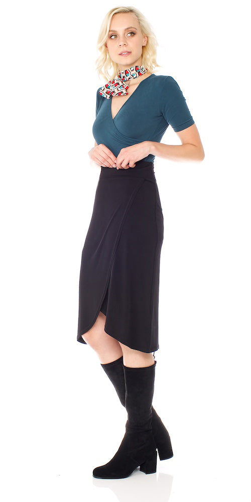 Armada Wrap Skirt, black