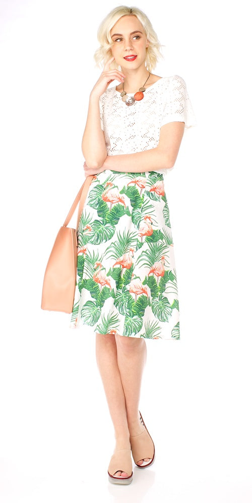 Winona Skirt, pink flamingo