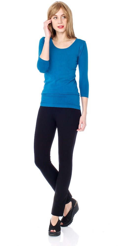 Bamboo Fitted 3/4 Sleeve Top