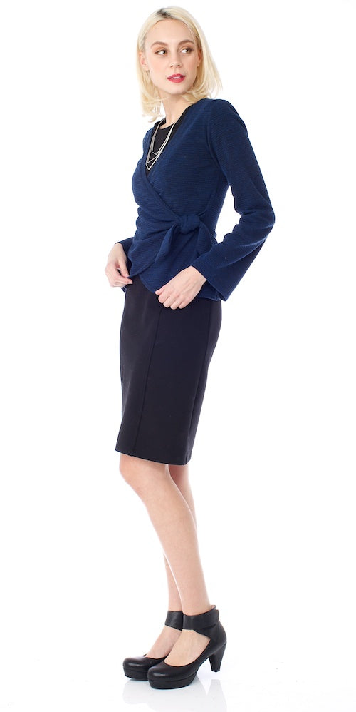 Sussex Wrap Sweater, deep royal