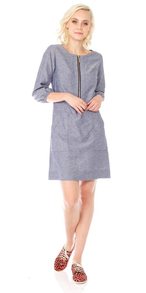 Harlow Chambray Dress