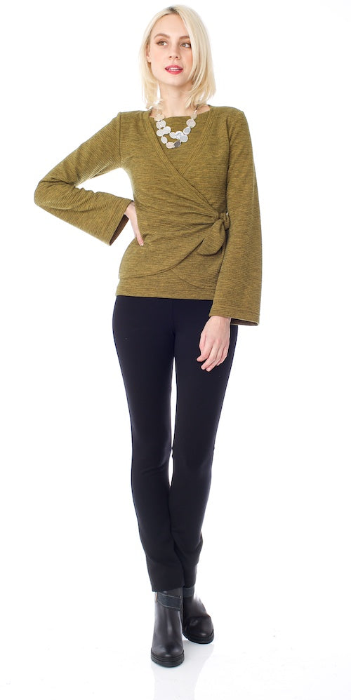 Sussex Wrap Sweater, mustard