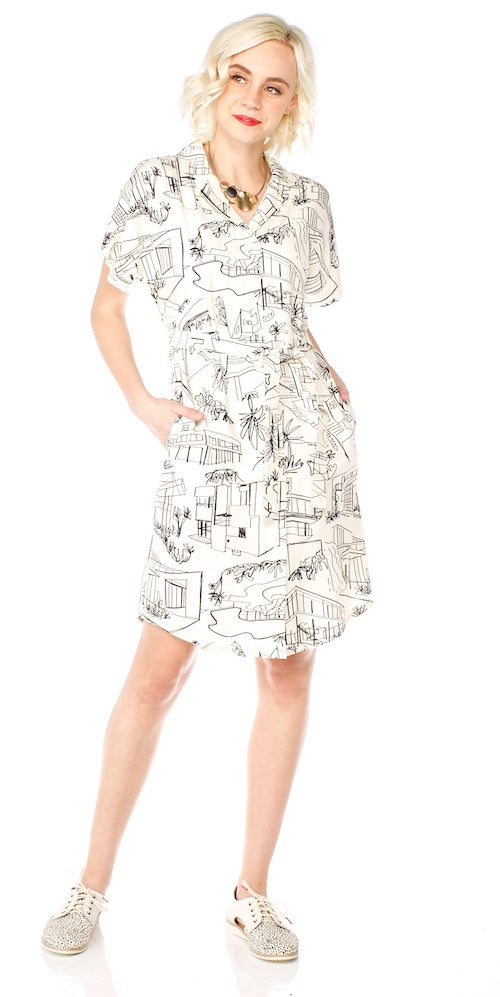 Beckett Shirt Dress, modern architecture