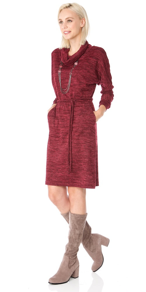 Laney Sweater Dress, cranberry