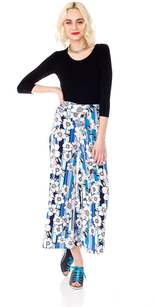 Morrison Cropped Trousers (unlined), blue hawaii