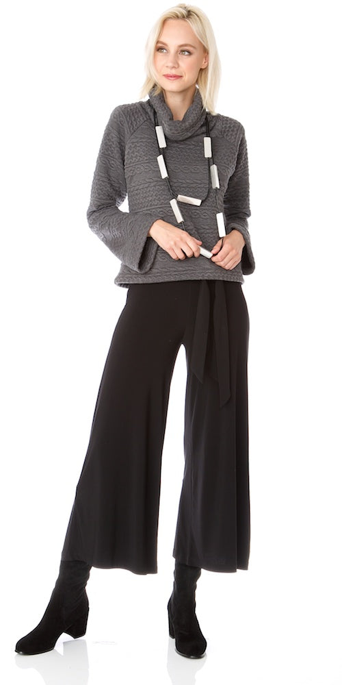 Morrison Cropped Trousers (lined), black