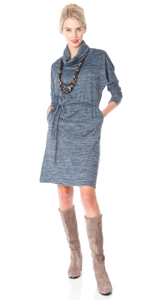 Laney Sweater Dress, denim