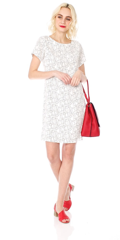 Kraftwerk Shift Dress, white