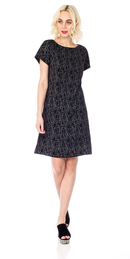 Kraftwerk Shift Dress, black