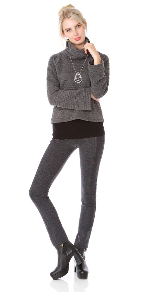 Kilarney Sweater, charcoal