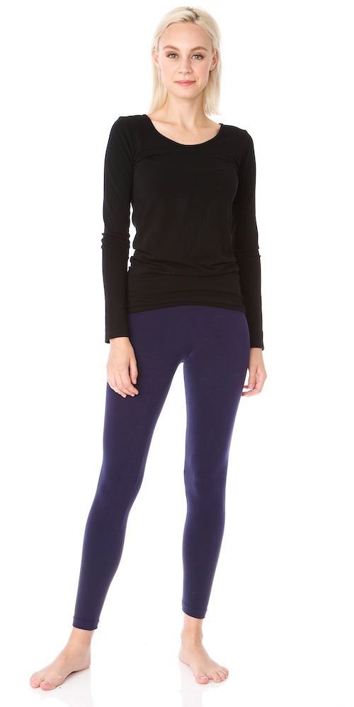 Bamboo Fitted Long-sleeve Top