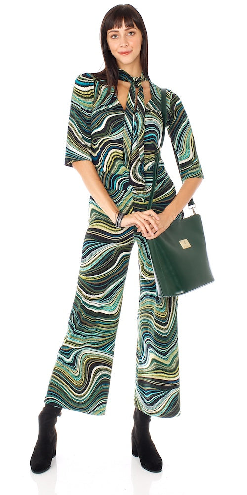 Morrisette Trousers, marbled teal