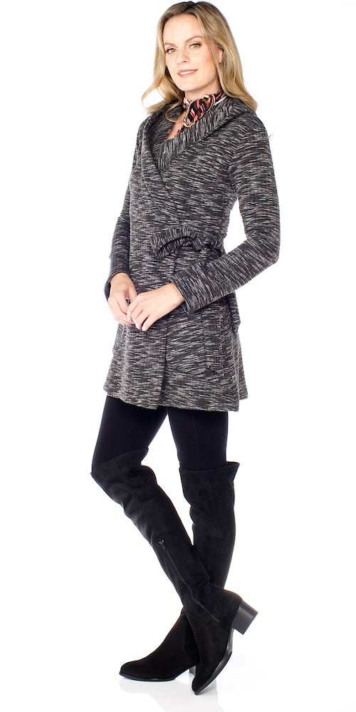 Impala Hooded Wrap, black