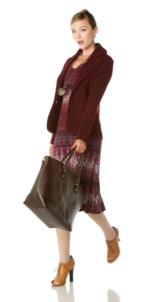 Idlewyld Dress, burgundy