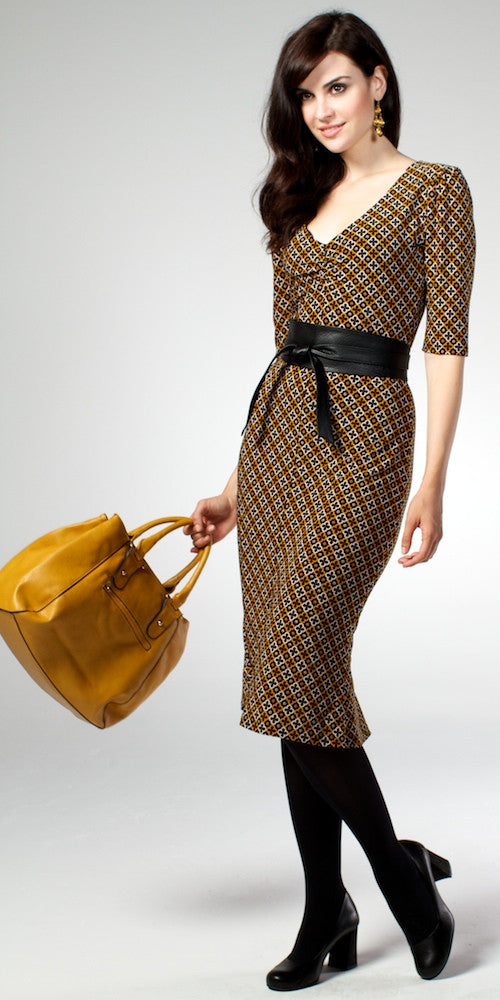 Hayworth Dress, mustard
