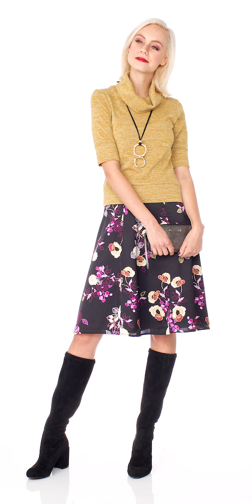 Aster Skirt, plum bloom