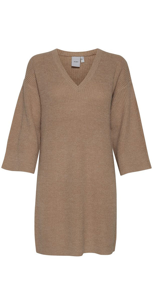 Ichi Sweater Dress, natural
