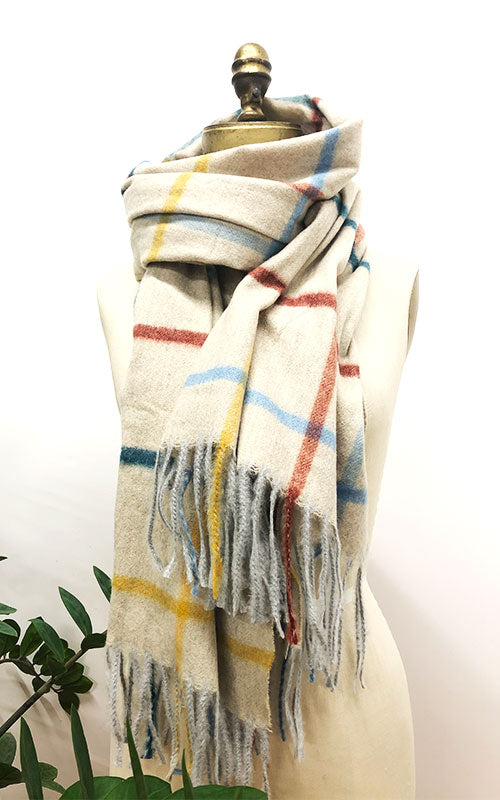 Multi Plaid Cozy Scarf