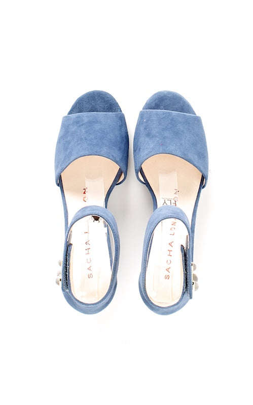 Sacha London Valero, denim suede