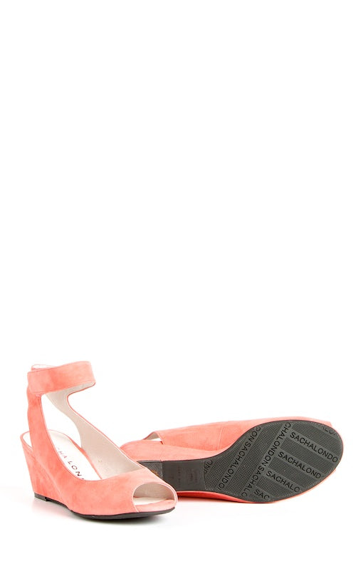 Sacha London Venice, coral suede