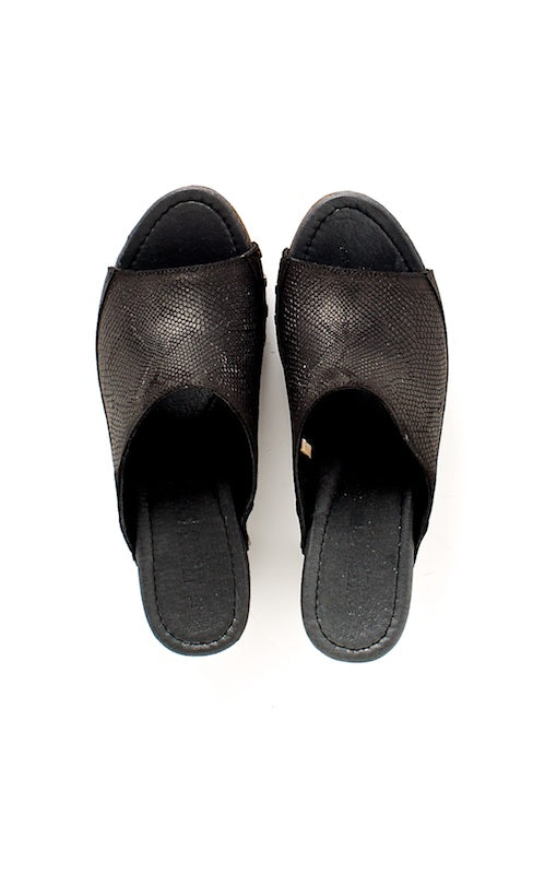 Ten Points Eva Slide, black nubuck