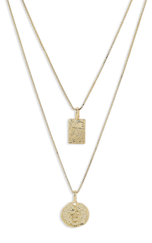 Pilgrim Valky Necklace, gold