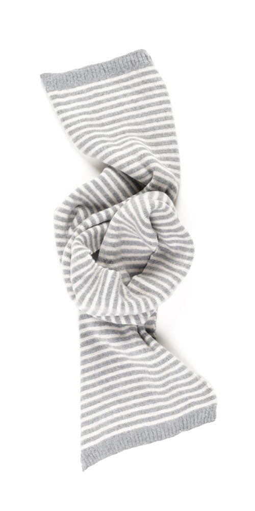 Grey Striped Scarf