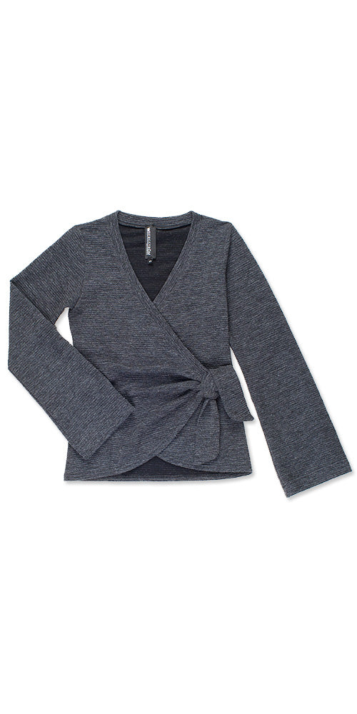 Sussex Wrap Sweater, charcoal