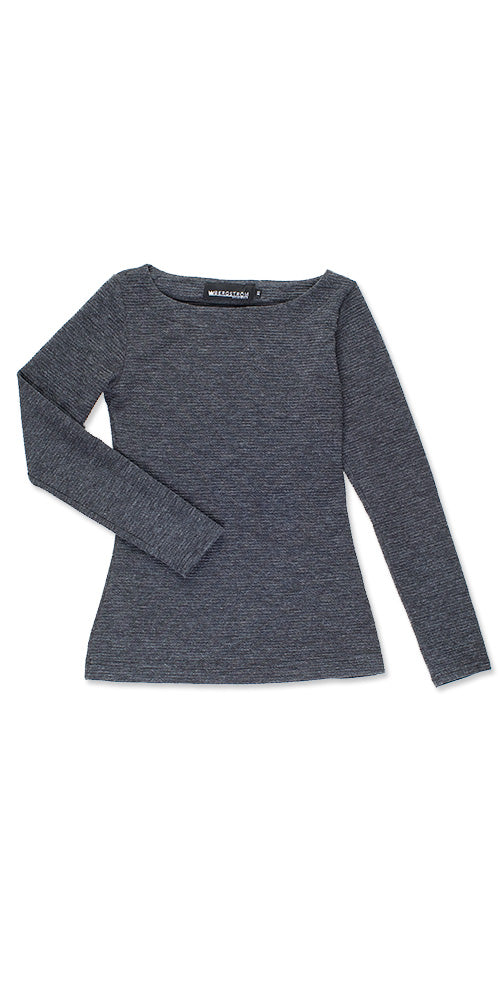 Urbanite Boatneck Sweater, charcoal