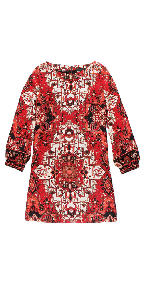 Elke Medallion Tunic, red